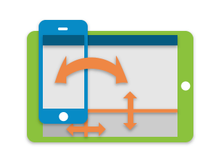 Mobile Web App Development Framework with Adaptive Layouts