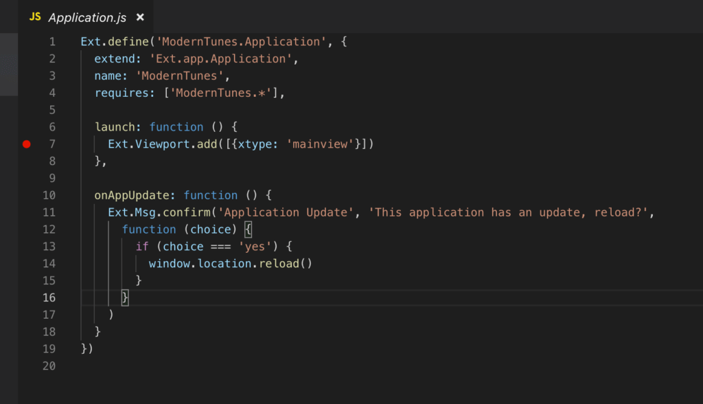 Debugging Ext JS Applications using Visual Studio Code and
